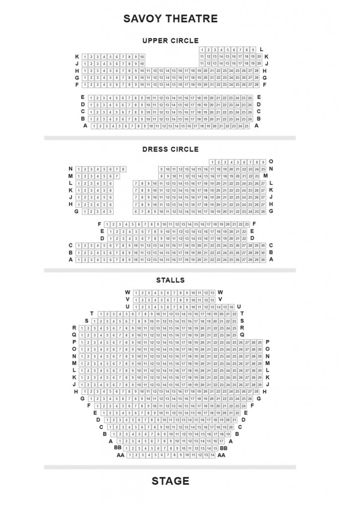 Savoy theatre seating Gypsy